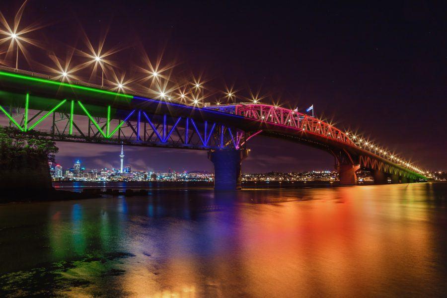 Vector Lights Auckland Harbour Bridge