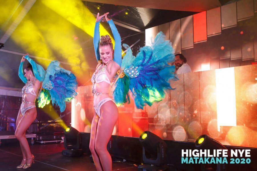 Dancer at NYE Highlife
